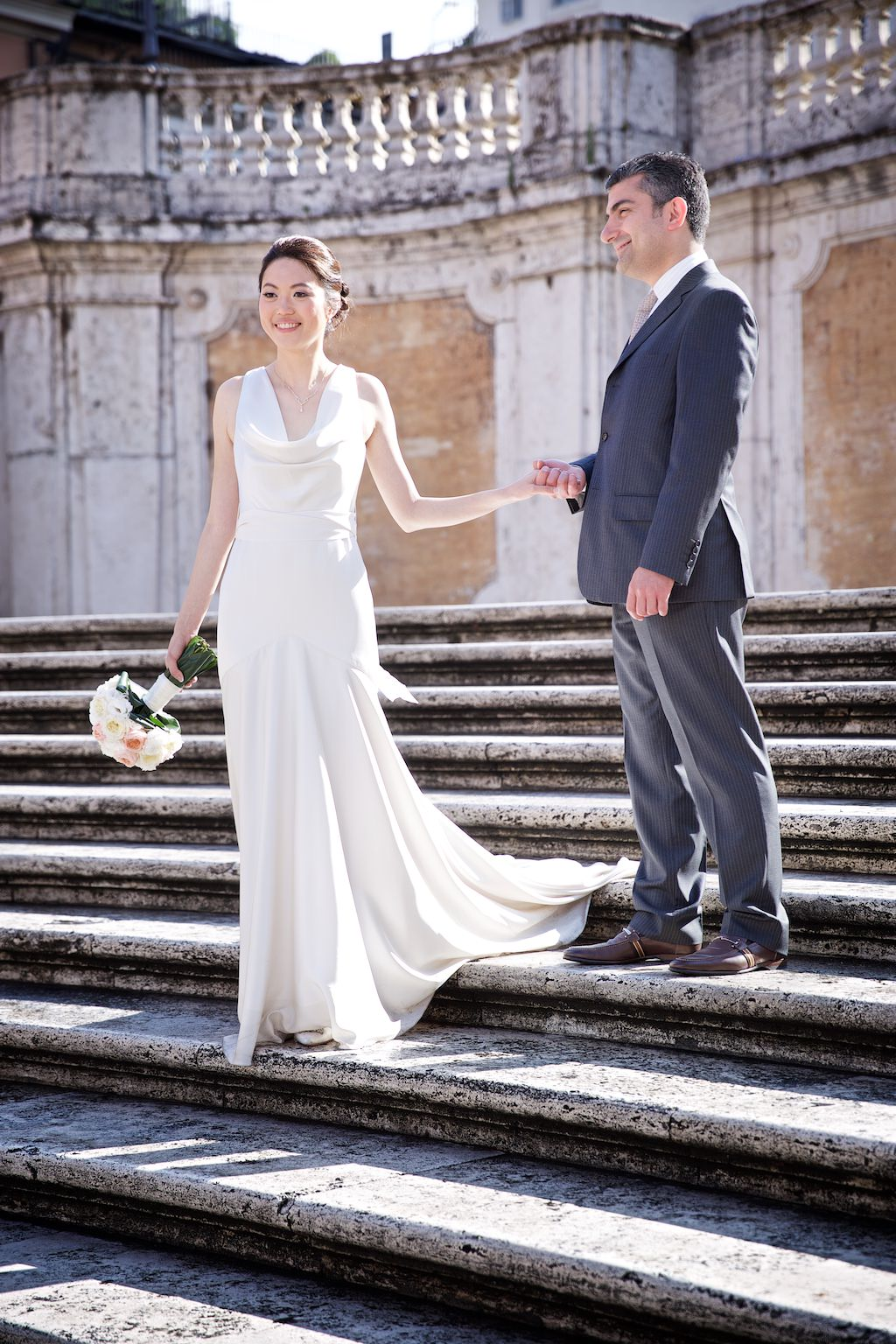 Wedding Rome blessing elopement il palazzetto spanish steps piazza navona colosseum