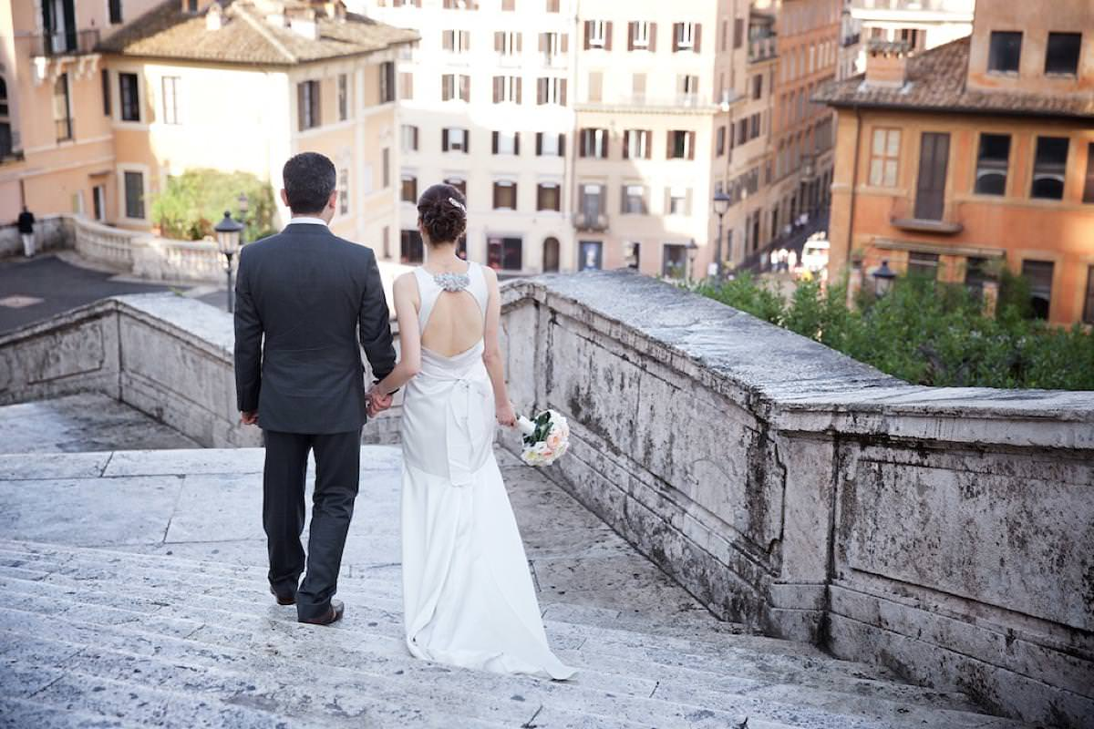 wedding officiant in Rome Il Palazzetto Spanish Steps